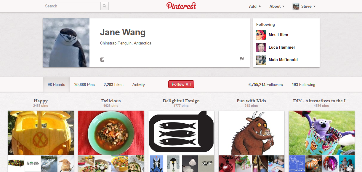 One of Pinterest's first and most active members wasn't a social media influencer. She's the founder's mom.